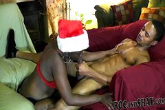 CHRISTMAS AFRO-AMERICAN LOVE MAKING !!