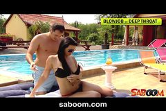 Horny Roxy Taggart gets fucked on the poolside
