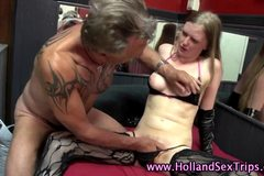 Amateur dutch hooker fingered
