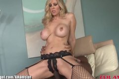 MILF Julia Ann Takes 12 Inches of Big Black Cock