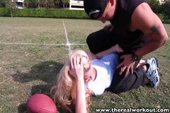 TheRealWorkout Sexy blonde Addison Avery fucked after footba