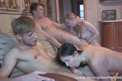 Teens fuck in pairs and more