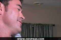 Stunning blonde Monique Alexander shows off her blowjob skills before getting drilled