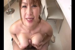 Young amateur japanese gives head