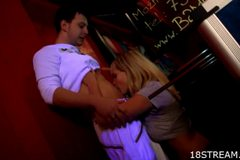 Exciting sex inside the bar