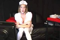 Cam no sound: Brandi Love....Webcam Nurse
