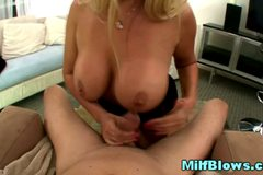 Huge titted mature milf hot pov blowjob