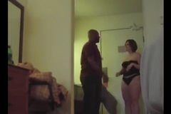 Wife and Black Lover, Humiliates Husband