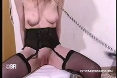 Leashed skank gets severe bottom punishment