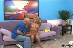 Sweet blonde teen licked and fucked