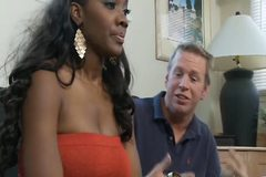 Horny Nyomi Banxxx get fuck by her white neighbor