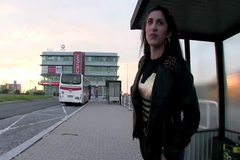 European pulling girlnextdoor with a cash bribe