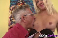 Blonde babe gets ass rimmed