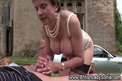 Milf brit Lady Sonia fuck and facial