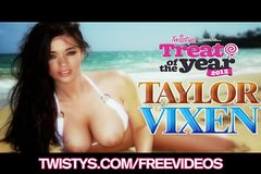 Treat of the year Taylor Vixen shows off her big naturals