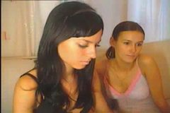 Two Cute Lesbian Teens Rub Pussy On Webcam