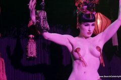 Dita Von Teese Topless Striptease
