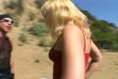 Missy Monroe gives the shaft to a guy