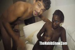 Brazilian dark skinned pepper choclate gets cum swapped