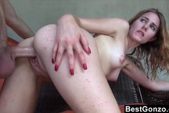 Filling Her Teen Pussy With Jizz