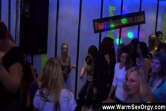 Male strippers jizzing on party girls