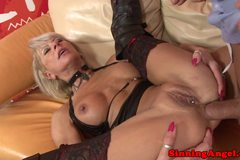 Awesome deepthroating assfucking granny