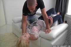 Enchanting teen beauty takes facial