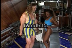 Black chick Monique gets her pussy fucked by a white stud