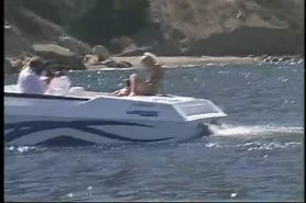 Ryan Connor fucks in a boat.