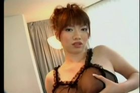 Japanese Girl's Lovely Cunt Fucked, Eats Cum