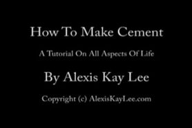 How to Make Cement - wet heels, shoes, stilettos.