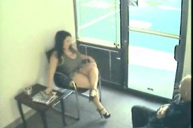 Spy Video - A couple is fucking in the waiting room