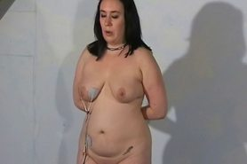 Fat slaveslut whipped and hardcore excercised spanking of punished bbw submissive Nimue Allen in extreme bdsm and pain