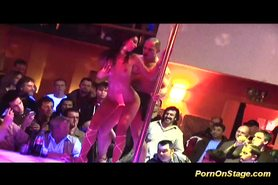 Porn on stage stripper fucked at the party at the bar