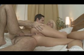 Blonde babe Dolly gets ass fucked