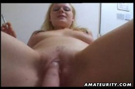 Hot amateur blonde girlfriend homemade blowjob and fuck with facial cumshot