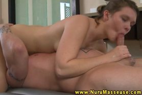 Massage babe loves to sixtynine during wet massage
