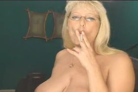Smokig Fetish - Mature Blonde smoking