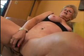 Hot Blonde Granny Toys and Fucks