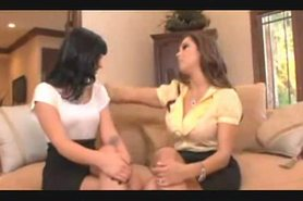 Two Beautiful Lesbians - Luxury On the Couch