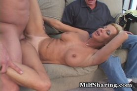 Horny Couple Fulfills Swinger Fantasy
