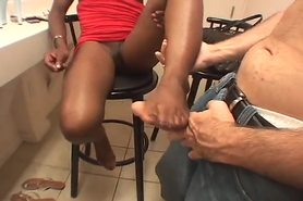Ebony Girl Footjob 6