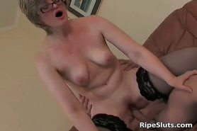 Big muscular guy screws this hot mature