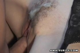 Hot amateur Milf sucks and fucks with cumshot on pussy view on tnaflix.com tube online.