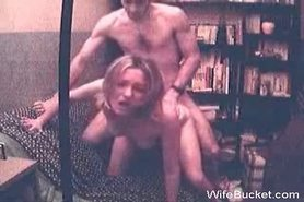 Vintage sex tape of a blonde MILF wife