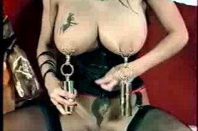 Opearl Hangs Weights From Her Pussy And Breasts view on tnaflix.com tube online.