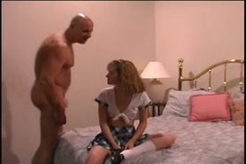 Group sex with one girl and four men