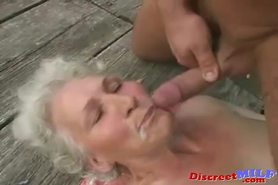 Mature granny gets fucked by young man