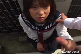 Japanese girl sucks cock Uncensored