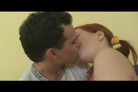 Redhead teen - all holes used